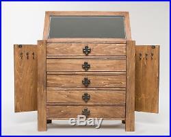Jewelry Armoire Chest Box Storage Cabinet Mirror Stand Wood Organizer Rustic Wood Jewelry Box