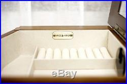 Jewelry Armoire Chest Walnut Wardrobe Master Bedroom Tall Box Cabinet Organizer