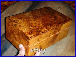 Jewelry Box Great Thuya Wood Locked With key Hand-made in Morocco