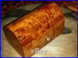 Jewelry Box Great Thuya Wood Locked With key Hand-made in Morocco thuja