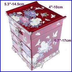 Jewelry Box Mother of Pearl Jewelry Organizer Jewelry Holder Craftsman 5030