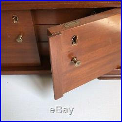 Jewelry Box Storage Chest 16 Drawers Vtg Solid Wood Armoire Doors High Quality