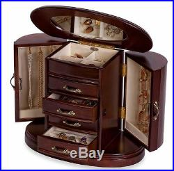 Jewelry Box for Girls Women Men Organizer Holder Display Watch Gold Travel Case