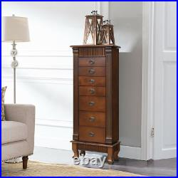 Jewelry Cabinet 7 Drawer Armoire Box Storage Chest Stand Organizer Necklace Home