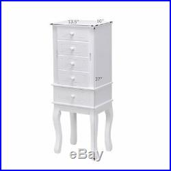 Jewelry Cabinet Armoire Storage Chest Stand Organizer Wood Free Stand Christmas