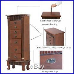 Jewelry Cabinet Jewelry Chest Jewelry Armoire Wood Jewelry Box Storage Organizer