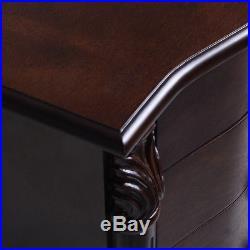 Jewelry Cabinet Wood Armoire Box Storage Chest Stand Organizer Necklace Mirror