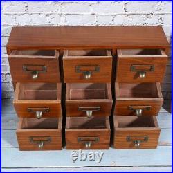 Jewelry Display Storage Box Vintage Drawer Multi Layer Wooden Desktop Container