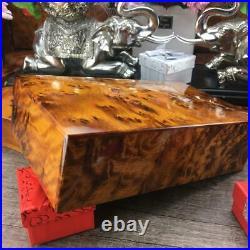 Jewelry wooden box Gift, Thuya burl storage, dressed red velvet Lined interior