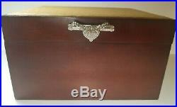 Judith Ripka Signature Wood Jewelry Box Lined w Silver Safekeeper SUPER RARE