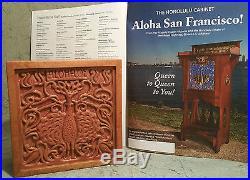 KOA WOOD Hawaiian hula girl music tiki arts crafts jewelry coin box tile pottery