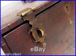 Kiste Schmuckkiste Schminkkiste truhe Schatztruhe Antique wooden Jewelry Box A