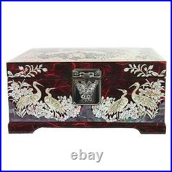 Korea Antique Jewelry Box Jewelry Gift Boxes Mother of Pearl Jewelry Box HJL31