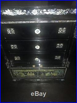 Korean Jewelry Box with Mother of Pearl Inlay