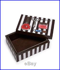 L@@k Rare Henri Bendel Essentials Box Lacquered Wood Jewelry Trinket Box