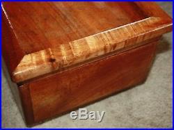 Large Big Island Curly Koa Wood Jewelry Box Hawaiian Acacia 14.5x9x6.1