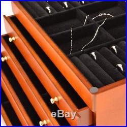 Large Jewellery Box white wood storage display case ring jewelry organizers