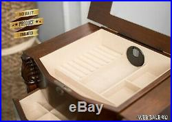 Large Jewelry Box Stand Floor Solid Wood Chest 8 Drawer Organizer Armoire Luxury