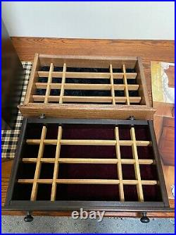 Large Jewelry Chest With Wings Amish Made Solid Oak! Felt Lined & Drawer divider