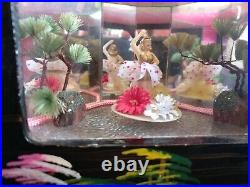 Large Vintage Asian Oriental Musical Jewelry with twirling Ballerina