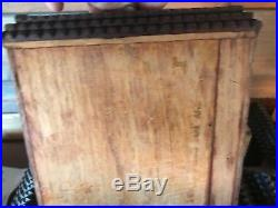 Large tramp art Jewelry Box Vanity Antique Handmade Folk Art With Drawers
