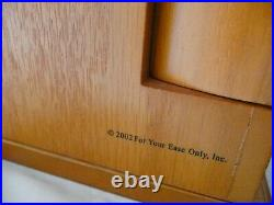 Lori Greiner For Your Ease Only Oak Wooden LARGE Jewelry Box Trinket Holder