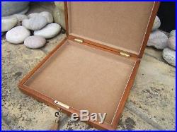 Lovely 19c Antique Mahogany Document/jewellery Box Fab Interior
