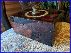 MAITLAND-SMITH PENSHELL MOTHER OF PEARL BLIND FRETWORK INLAY Jewelry Trinket BOX
