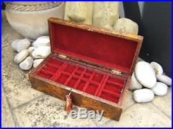 MASSIVE 19c VICTORIAN POKERWORK JEWELLERY BOX FAB INTERIOR SUPERB PATTEN