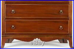 MINIATURE JEWELRY BOX American Federal Mahogany Chest of Drawers, c. 1800-1815