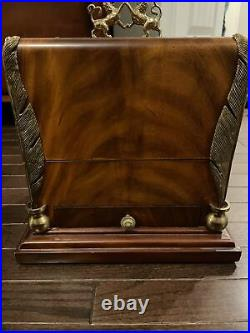 Maitland-Smith Handmade Wood Brass Jewelry Box Lions Quills- Superb N-e-w Cond