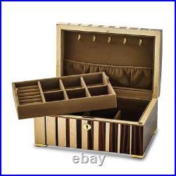 Maple with Ebony Veneer Locking Jewelry Box