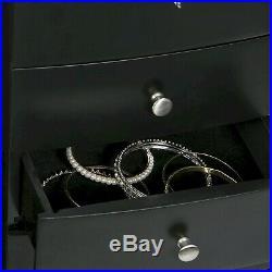 Mele & Co Black Wood Freestanding Jewellery Armoire Cabinet MC907 LAST OF STOCK