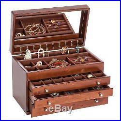 Mele & Co.'Bridgette' Antique Walnut Wood Jewelry Box Brown