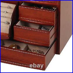 Mele & Co. Empress Wooden Jewelry Box (Walnut Finish)