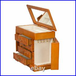 Mele Designs Greta Wooden Jewelry Box in Burlwood Oak Finish