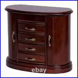 Mele Heloise Wooden Jewelry Box In Walnut Finish