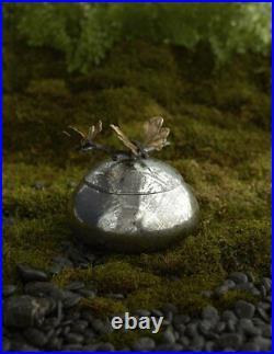 Michael Aram Butterfly Ginkgo Hand Textured Stainless Steel Keepsake Box 175754
