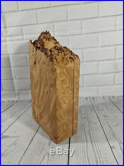 Michael Elkan Modernist Burl Wood / Burr Wood Trinket Box Jewelry Box