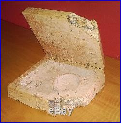 Michael Elkan hand-carved free edge burl wood jewelry box