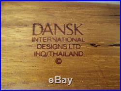 Mid Century Danish Modern Dansk Teak Quistgaard Dresser Jewelry Desk Wood Box