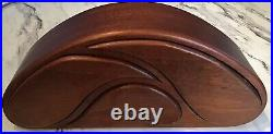 Midcentury Modern Artisan Made Jewlery Box Unique Wood Carved Indiana Made