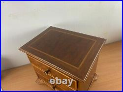 Miniature chest of drawers / jewellery cabinet craftsman made box wood strung