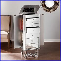 Mirrored Living Room Bedroom Bathroom Jewelry Armoire Cabinet Dresser Drawer Box