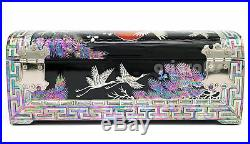 Mother of Pearl Jewelry Box Storage, Korean Nacre Ring Sorter Chest Trinket Case