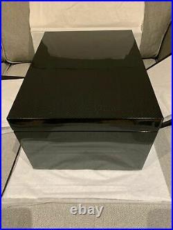 NEW Benson Black Series Carbon Fiber Print Watch Jewelry Box Storage Box $450