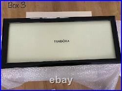 NEW PANDORA Genuine Jewellery Case LARGE 4 Tier Box Black Gloss RARE (BX3)