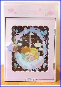 NEW Sanrio Little Twin Stars PINK WOODEN Jewelry Box Mini Closet 2014 Rare JAPAN