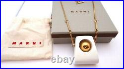 New Marni Italy Necklace Made Of Wood And Metal In Its Original Box