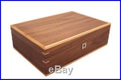 New Walnut 10 Wrist Watch Jewellery Wood Veneer Display Storage Wooden Case Box